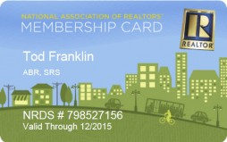 National Association Of Realtors Membership Card